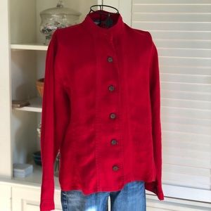 Chico's Linen Miliary Cut Jacket